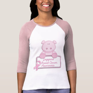 KRW Pink Ribbon Hippo - Support Tshirts