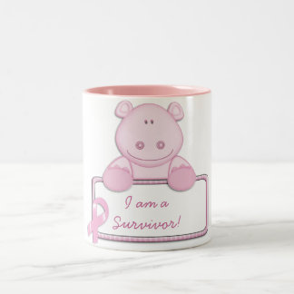 KRW Pink Ribbon Hippo - Survivor Coffee Mug