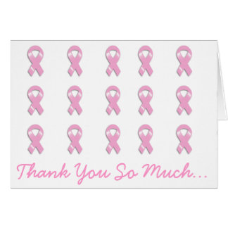 KRW Pink Ribbon - Thank You So Much Card