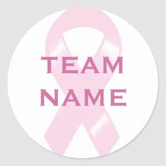 KRW Pink Ribbon Walk Custom Team Classic Round Sticker