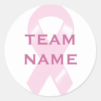 KRW Pink Ribbon Walk Custom Team Round Sticker