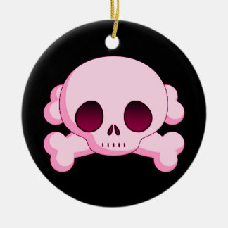 KRW Pink Skull and Crossbones Ornament