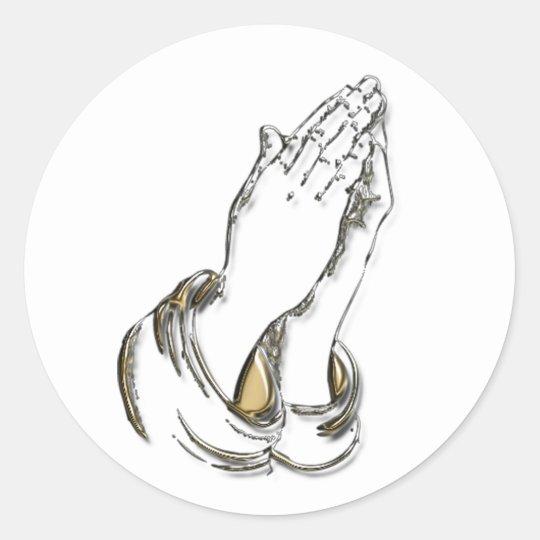 KRW Praying Hands 1.5 Inch Stickers