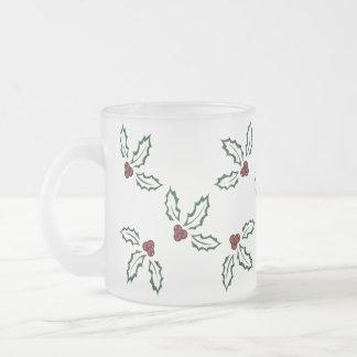 KRW Pretty Holly Frosted Mug