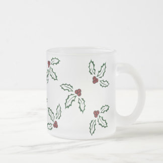 KRW Pretty Holly Frosted Mug