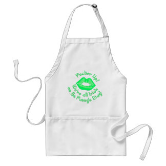 KRW Pucker Up We're All Irish Adult Apron