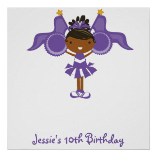 KRW Purple Cheerleader Birthday Autograph Poster