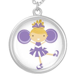 KRW Purple Cheerleader Birthday Party Necklace