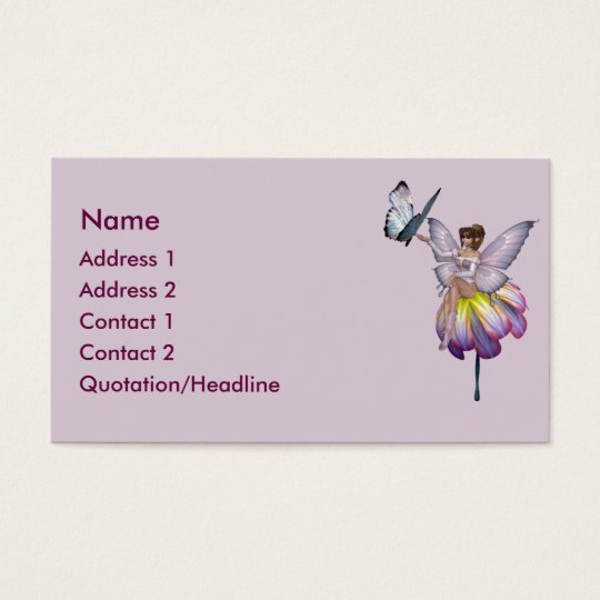 KRW Purple Flower Fairy Business Card