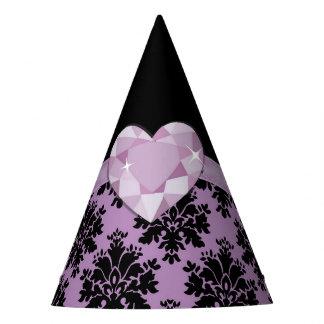 KRW Purple Jewel Heart Party Hat