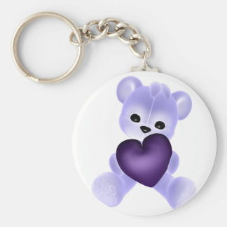 KRW Purple Teddy Key Chain