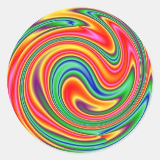 KRW Rainbow Swirl Round Sticker