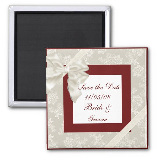 KRW Red and White Custom Save the Date