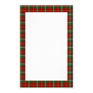KRW Red Plaid Holiday Stationery