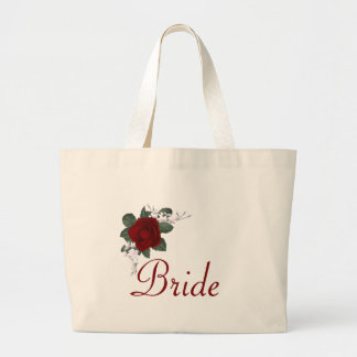 KRW Red Rose Bride Wedding Tote