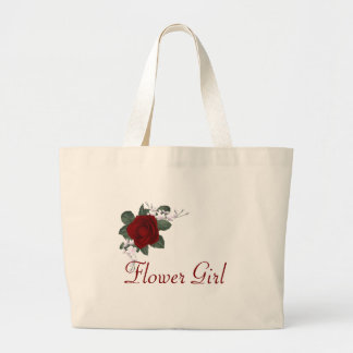 KRW Red Rose Flower Girl Wedding Tote