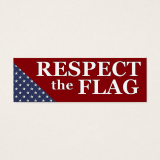 KRW Respect the Flag USA Pride Card