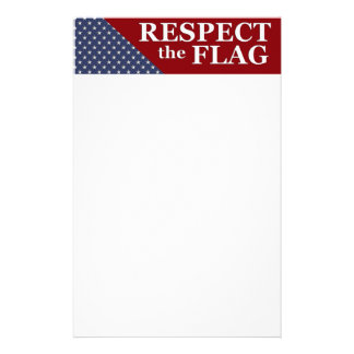 KRW Respect the Flag USA Pride Stationery