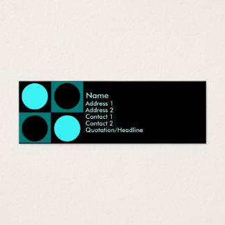KRW Retro Aqua Squares and Circles Mini Business Card