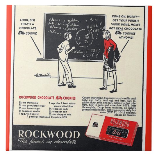 KRW Rockwood Chocolate Co Advertising Ceramic Tile