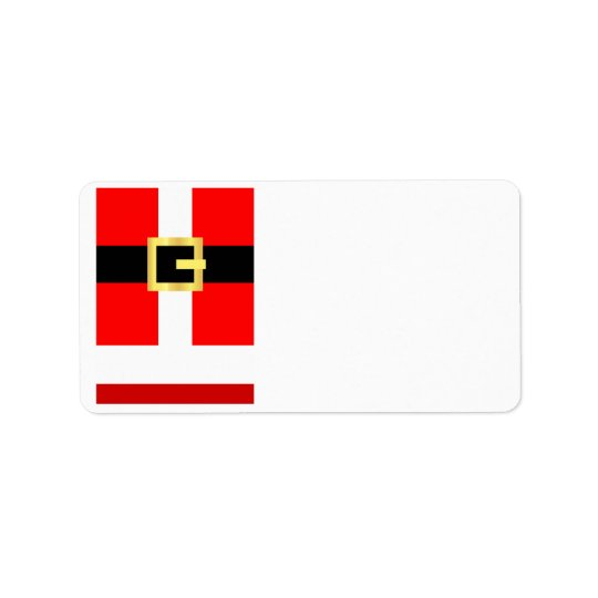 KRW Santa Suit Christmas Blank Address Label