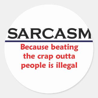 KRW Sarcasm Funny Joke Classic Round Sticker