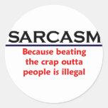 KRW Sarcasm Funny Joke Round Sticker