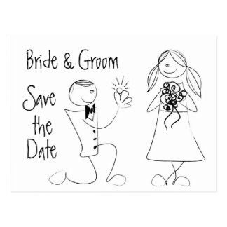 KRW Save the Date Custom Wedding Card Postcard