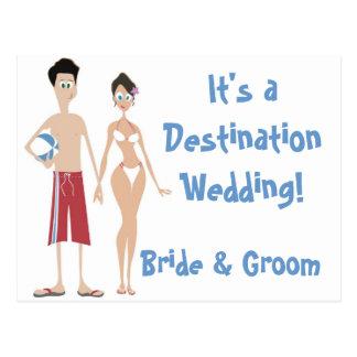 KRW Save the Date Destination Wedding Card Postcard