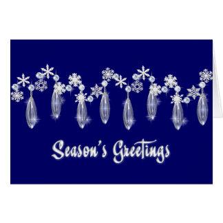 KRW Season s Greetings Snowdrops Card Blue