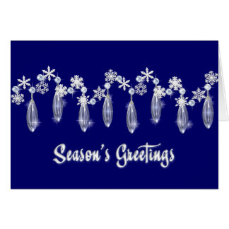 KRW Season's Greetings Snowdrops Card Blue