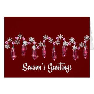 KRW Season's Greeting's Snowdrops Custom Card