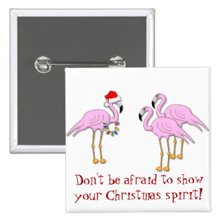 KRW Show Your Christmas Spirit Flamingo Pin