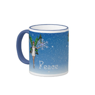KRW Snowfairy Peace  Holiday Coffee Mug