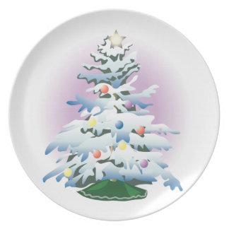 KRW Snowy Christmas Tree Holiday Plate