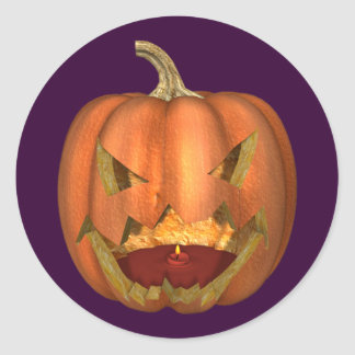KRW Spooky Jack O Lantern Halloween Sticker