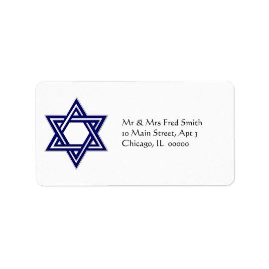 KRW Star of David Hanukkah Address Label