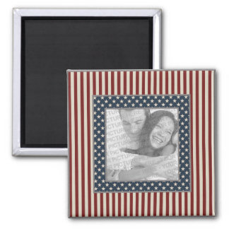 KRW Stars and Stripes Custom Photo Square Magnet