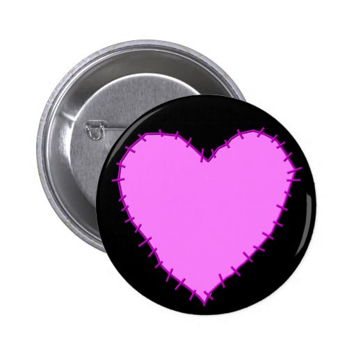 KRW Stitched Heart Pin