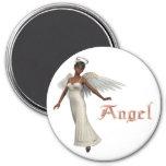 KRW Sweet Angel - African American Fridge Magnets