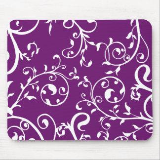 KRW Swirling Vines Purple Mouse Mat