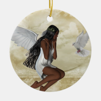 KRW The Angel and the Dove Inspirational Ornament