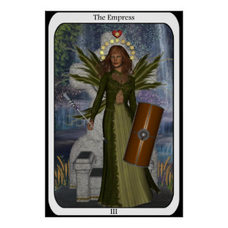 KRW The Empress Fairy Tarot Card Poster
