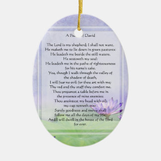 KRW The Lord is My Shepherd Psalm 23 Ornament