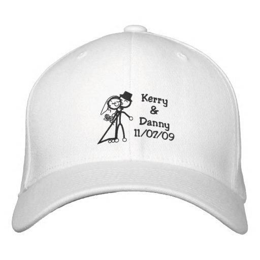 KRW Toon Bride and Groom Custom Name Embroidered Baseball Cap