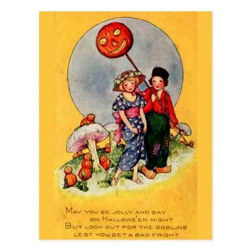 KRW Trick or Treaters Vintage Halloween Post Card