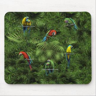 KRW Tropical Jungle Parrots Mouse Pad