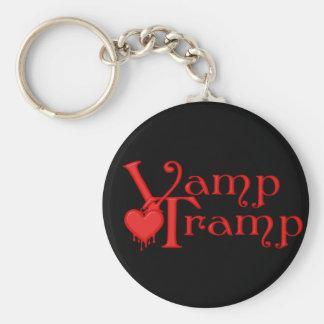 KRW Vamp Tramp Blood Dripping Heart Basic Round Button Key Ring