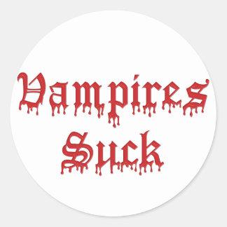 KRW Vampires Suck Dripping Blood Round Sticker