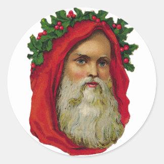 KRW Victorian Father Christmas Santa Sticker